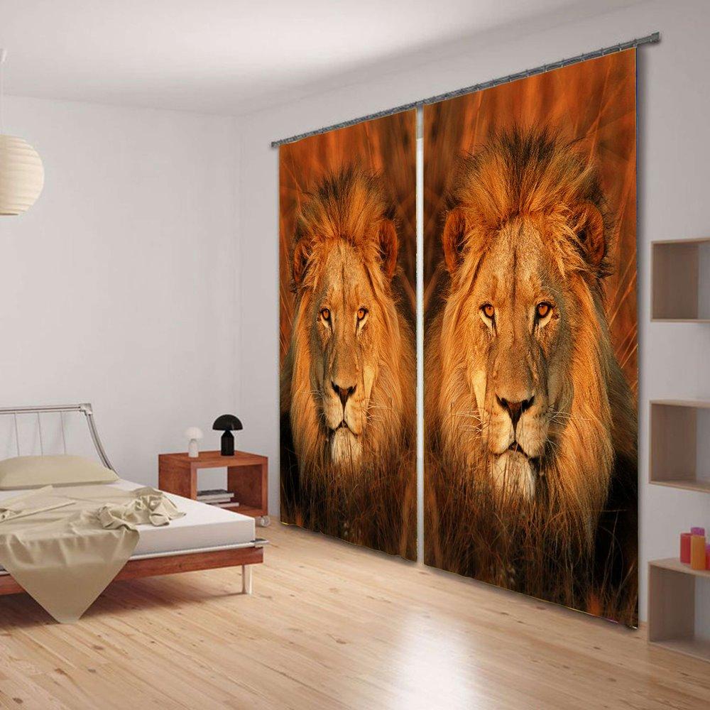 3D Two Symmetrical Lions