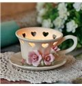 Fantastic Original Top Quality Flower and Heart Design Cup Shape Candle Holder