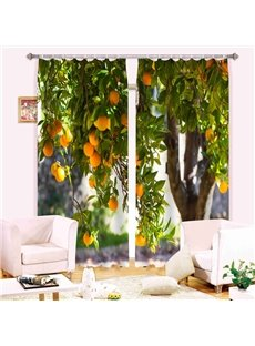 Apricot Tree 3D Digital Printing Blackout Curtain