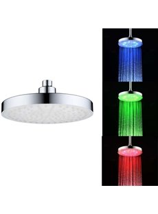 8' Temperature Sensitive LED Color Changing Shower Head