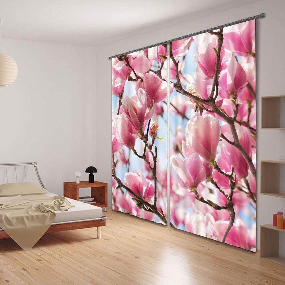 Elegant Mangnolia Flower Energy Saving 3D Curtain