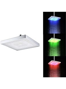 Contemporary Temperature Sensitive 12 LED Lights Shower Head