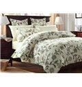 Graceful Fresh Vine Flower Print 4-Piece Cotton Bedding Sets/Duvet Cover