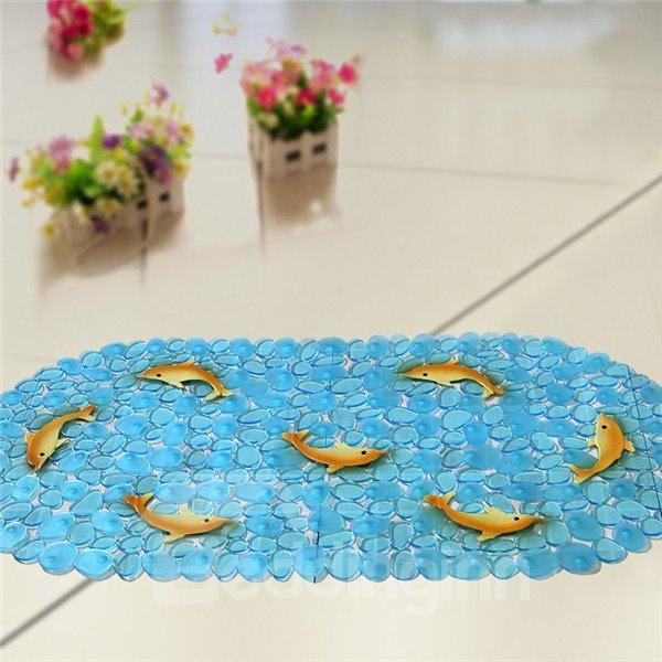 Unique Pretty Yellow Dolphin Print Bath Mats