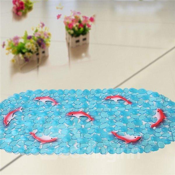 Unique Pretty Red Dolphin Print Bath Mats