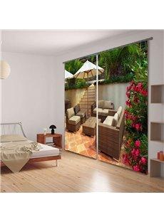 Sofa 3D Digital Print Functional Blackout Curtain