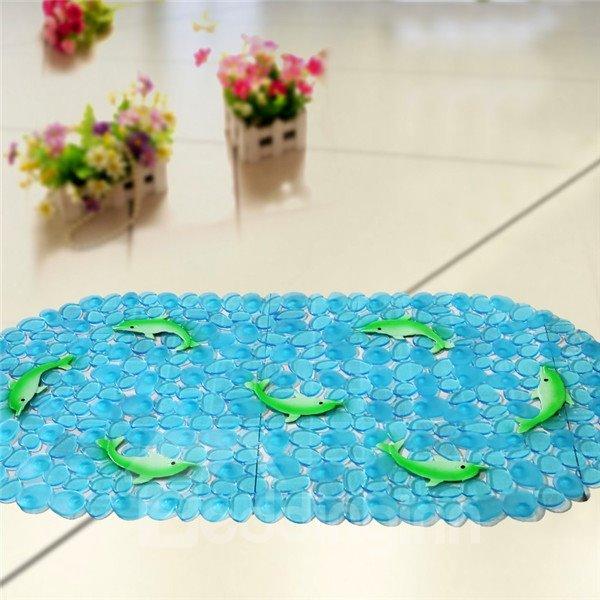 Unique Pretty Green Dolphin Print Bath Mats