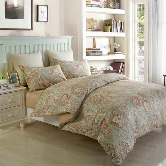 European Noble Style Jacquard Cotton 4-Piece Duvet Cover Sets