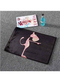 Super Lovely Pattern Soft Flannel Bath Rug