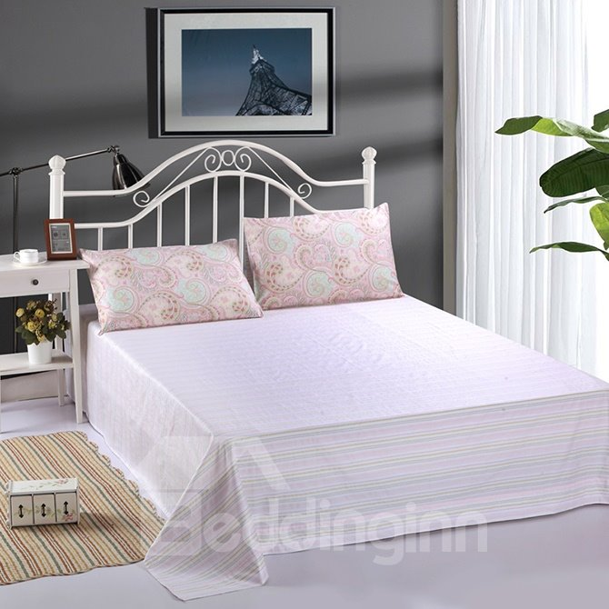 National Style Phoenix Tail Pink Cotton 4-Piece Duvet Cover Sets