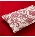 Red Jacquard Comfy Cotton 4-Piece Duvet Cover Sets