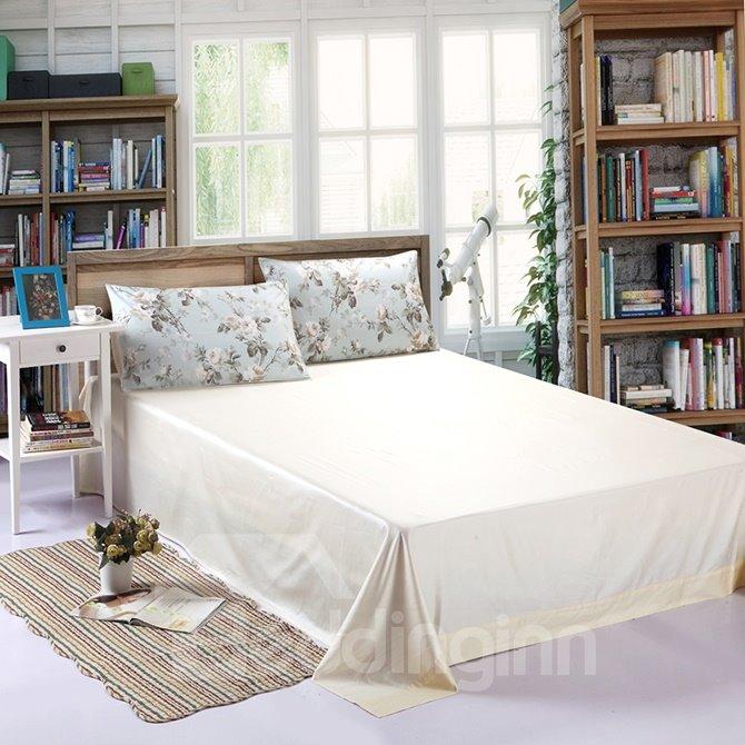 Fresh Flower Cozy Cotton 4-Piece Blue Duvet Cover Sets