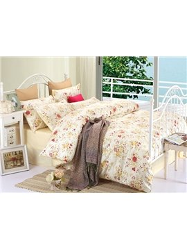 Top Class Floral Full Cotton 4-Piece Duvet Cover Sets