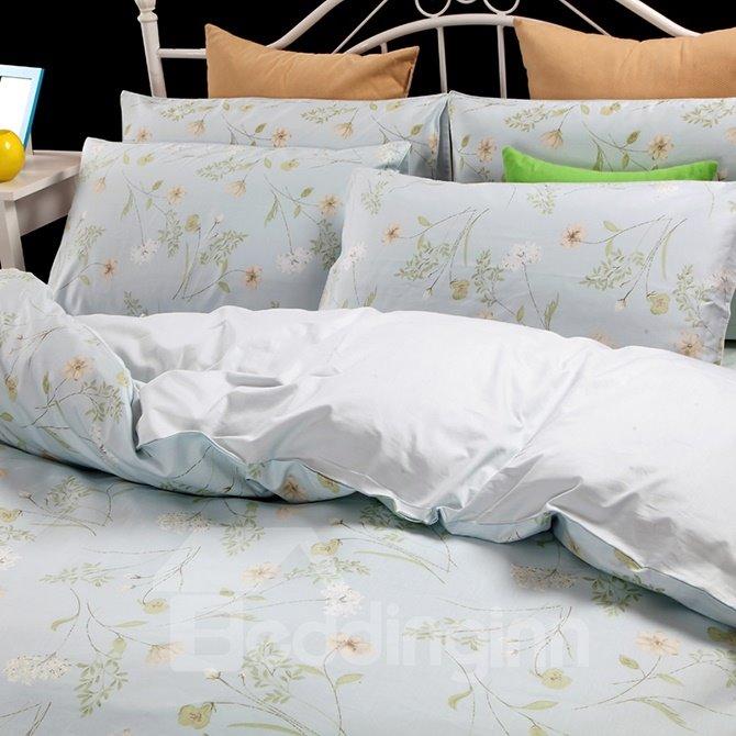 Slap-up Elegant Camellia 100% Cotton 4-Piece Duvet Cover Sets