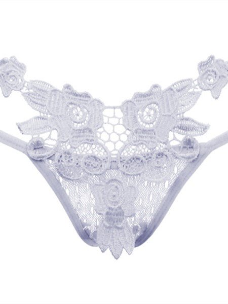 Super Sexy Flower Pattern Multi Strings Lace Panty
