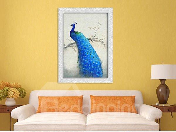 Stunning Graceful Peacock 1-Piece DIY 3D Diamond Sticker