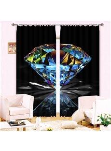 Wonderful Shining Diamond 3D Blackout Curtain