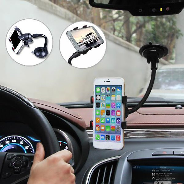 Snake Shaped Design And Practical ABS Aluminum Tube Car Phone Mount