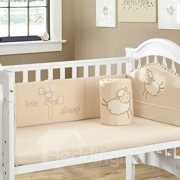 Pattern 4 Piece Crib Bedding Set