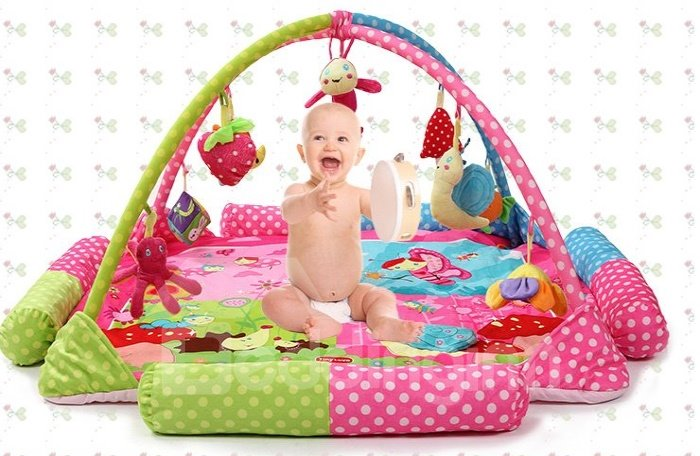 Super Large Tents Music Game Pad Baby Crawling Playmate for 1-24 Mouths