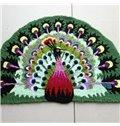 Soft Arch Peacock Large Size Bath Rug