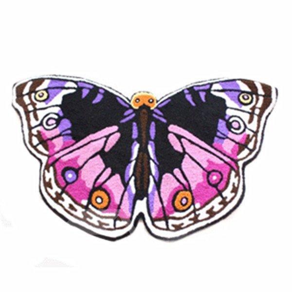 Cozy Vivid Butterfly Pattern Blending Bath Rug