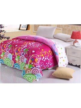 Dynamic Chic Colorful Heart Circles 4-Piece Cotton Duvet Cover Sets