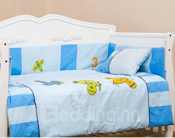 Adorable Little Planes 9-Piece Crib Bedding Sets