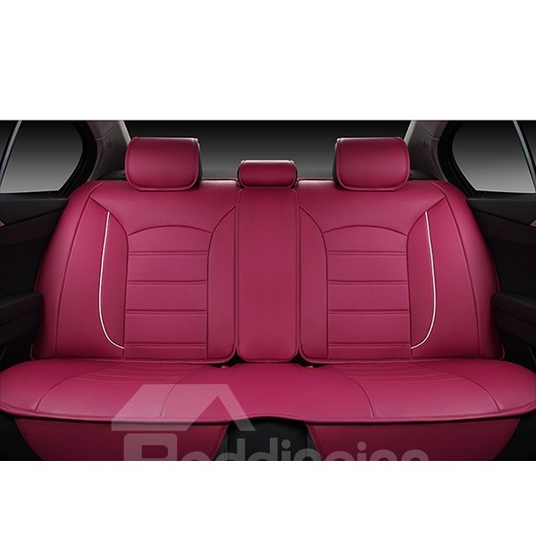 Luxurious And Classic Colored Design Leatherette Custom Fit Car Seat Covers