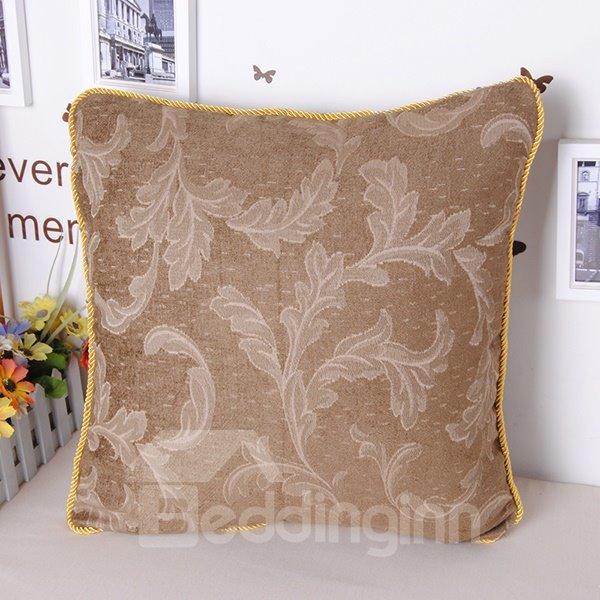 European Elegant Noble Style Jacquard Chenille Throw Pillowcase