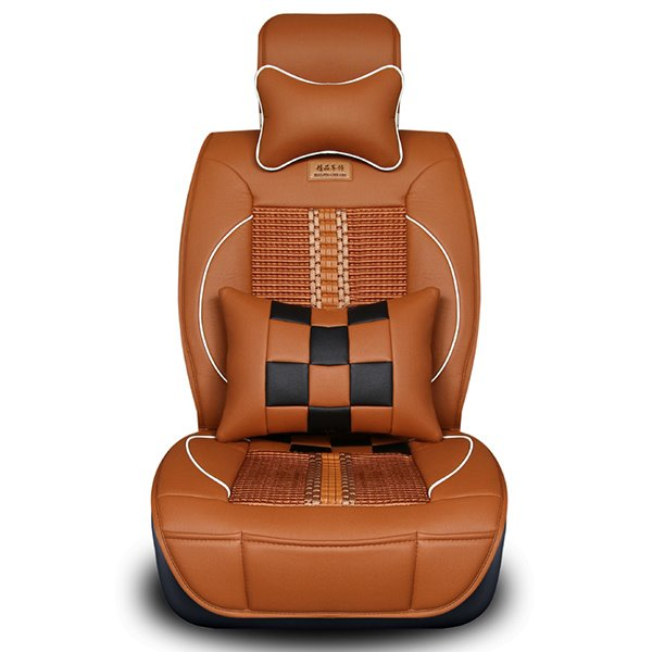 Sports Series Streamlined Racing Flag Patterns Universal Car Seat Covers