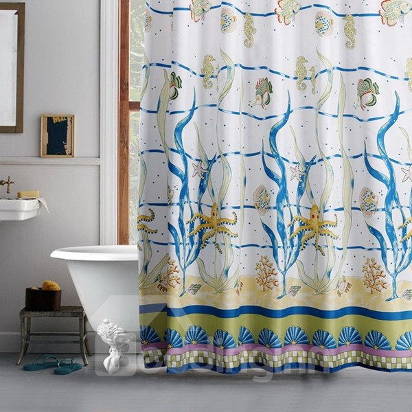 Big Sale Sea World Octopus Baby Shower Curtain