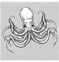 Fancy Big Head Octopus Pattern Gray Shower Curtain