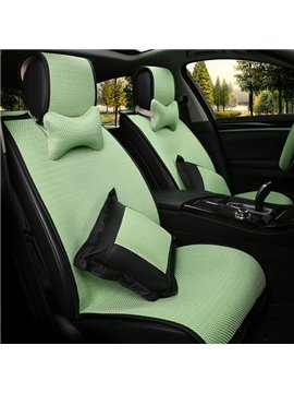 Comfortable And Elegant With Bright Multi-Color Ice Silk Universal Five Car Seat Covers