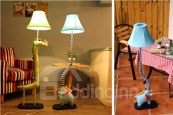 New Style Cartoon Pattern Soft Material Standing Lamp