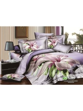 Fresh Lilac Orchid Printing 2-Piece Pillow Cases