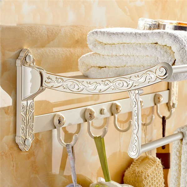 Luxury Exquisite Workmanship Collapsible Antique Bathroom Shelves