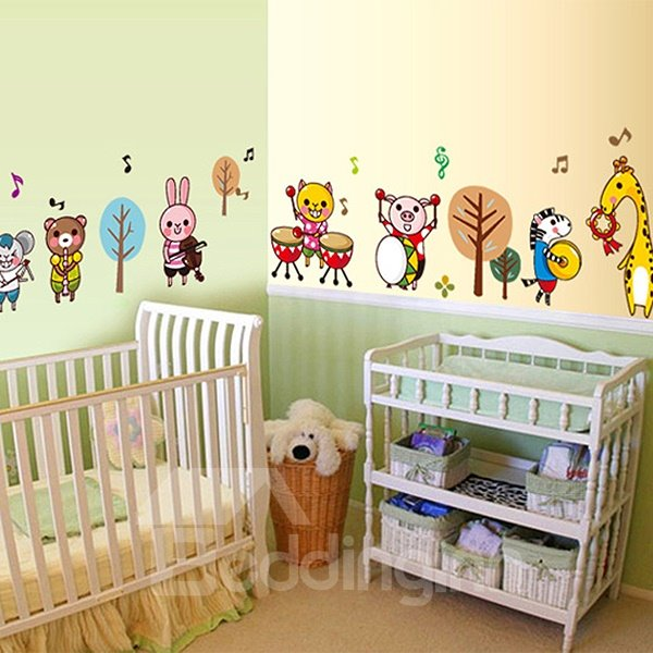 Bouncy Animals Concert Wall Sticker for Baby&Kids