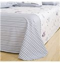 Cute Stripe Heart Zebra Head Printing 4-Piece Cotton Duvet Cover Sets