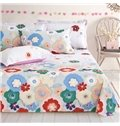 Classy Bright Colorful Floral 4-Piece Duvet Cover Sets
