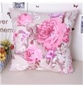 Cuddly Gorgeous Peony Comfy Cotton Throw Pillowcase