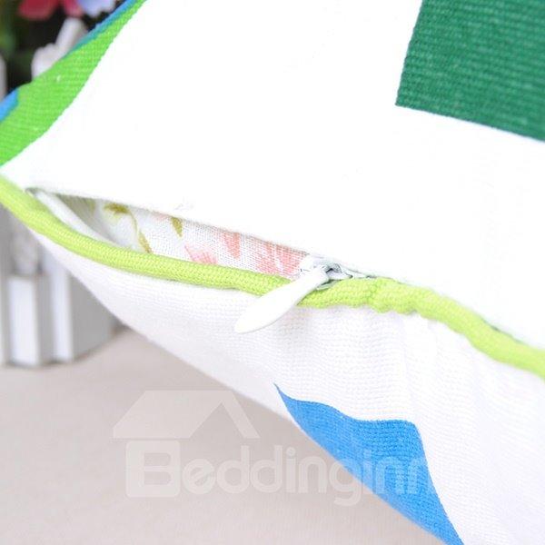 Graceful Fresh Green Tree Soft Cotton Throw Pillowcase