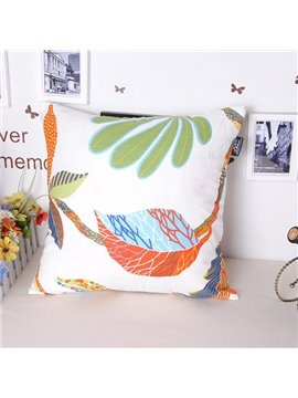 Leisurely Summer Coconut Tree Printing Throw Pillowcase
