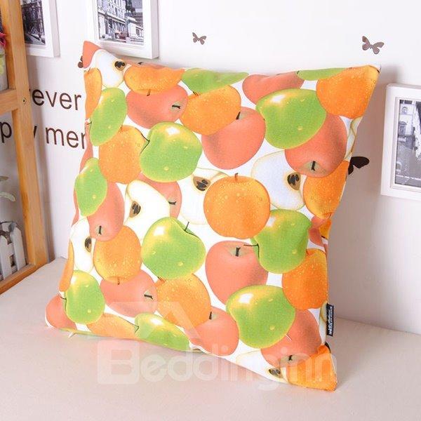Lovely Pleochroic Apples Printing Cosie Cotton Throw Pillowcase