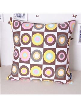 Fancy Faddish European Style Circle Printing Throw Pillowcase