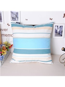 Vogue Stripe Style Throw Pillowcase with Cotton Fabric