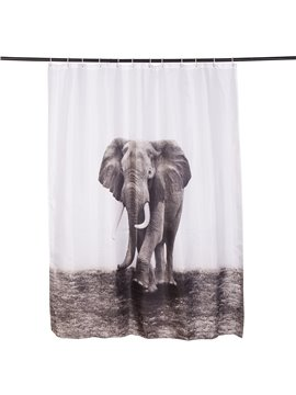 Vivid Elephant Printing 3D Waterproof Shower Curtain