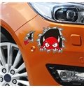 Vivid Ghastly Monster Climbing Out Of The Hole 3D Car Stickers