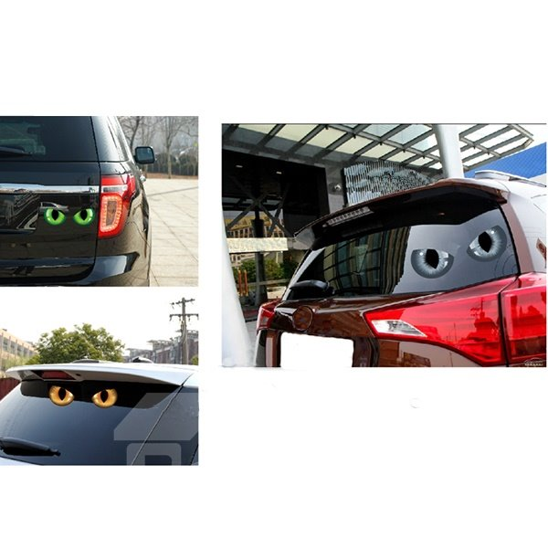 Unique Creative Reflecting Light Eyes Car Stickers