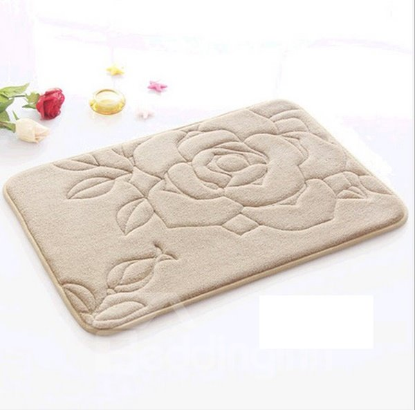 Gorgeous Rose Print Multi-Color Anti-Slip Water-Absorbing Area Rugs